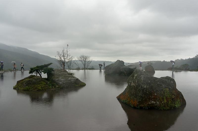 八煙聚落,水中央