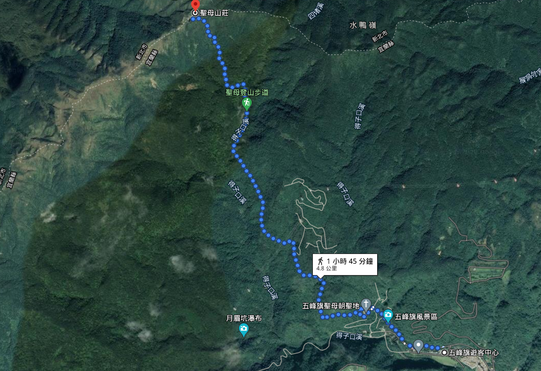 聖母登山步道 抹茶山 路線圖